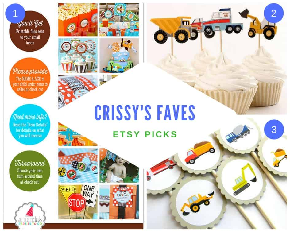 Transportation Themed Birthday Party Etsy cupcake and cake topper decor