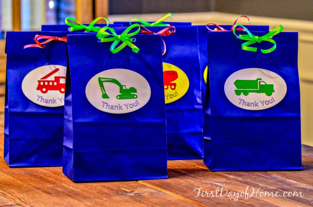 Transportation Themed Birthday Party Favor Bags