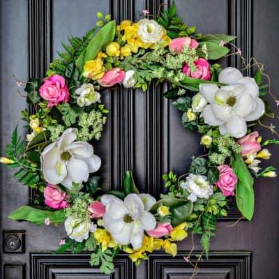 Spring wreath makeover