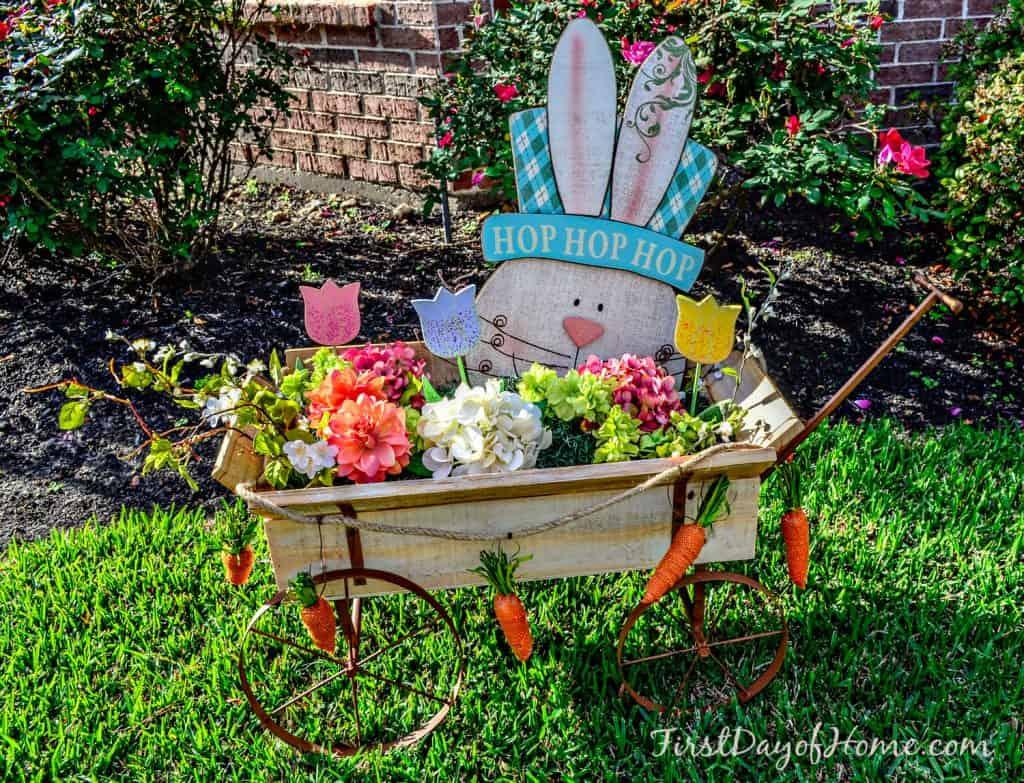 Easter floral cart