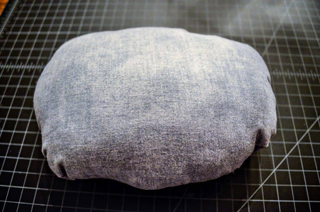 Finished stone for pretend campfire pillow set for kids based on Land of Nod campfire set