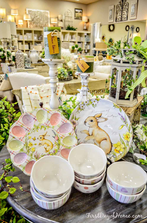 Easter tabletop decor