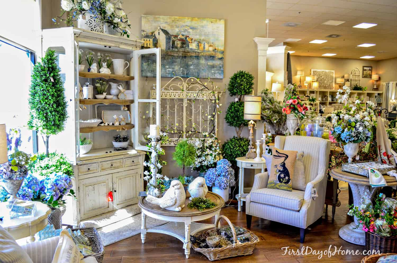 Spring decorated room