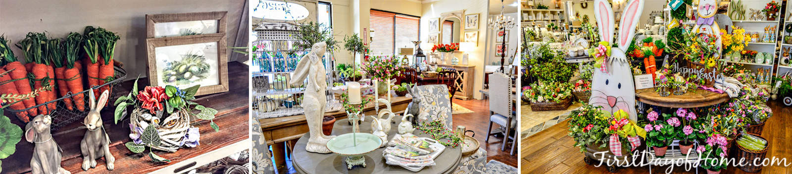 Spring and Easter decorating ideas from local boutique home decor shops