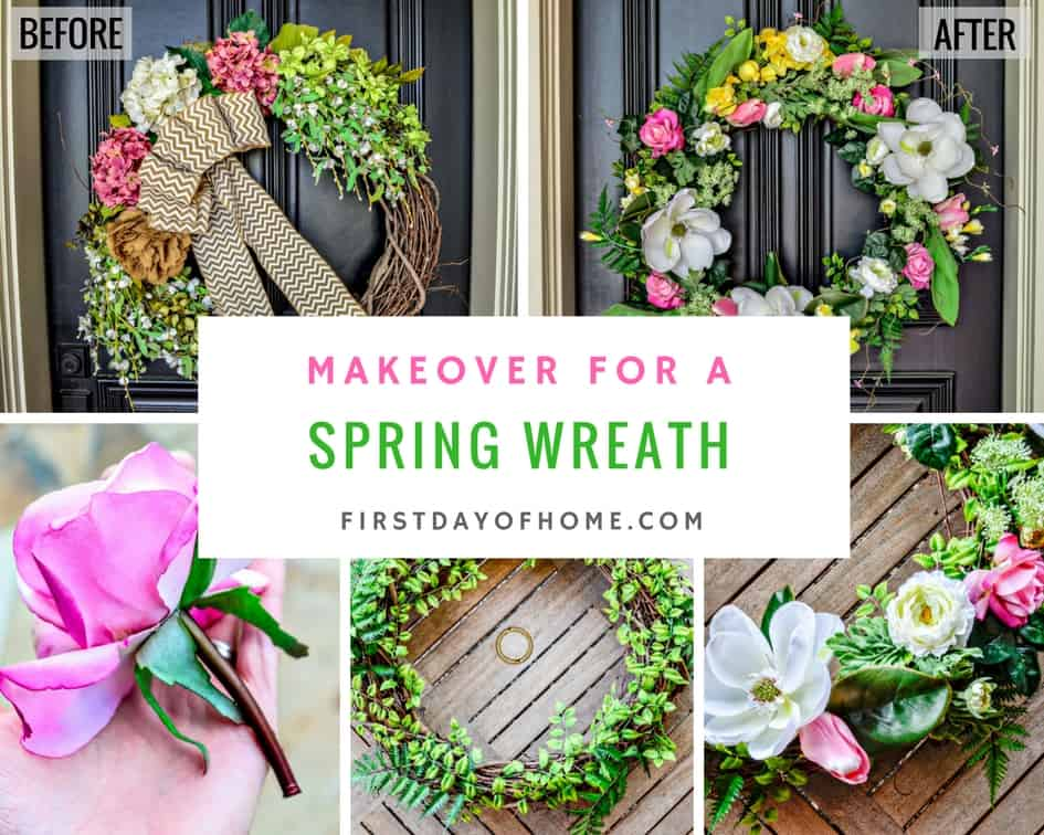 Spring Wreath Makeover
