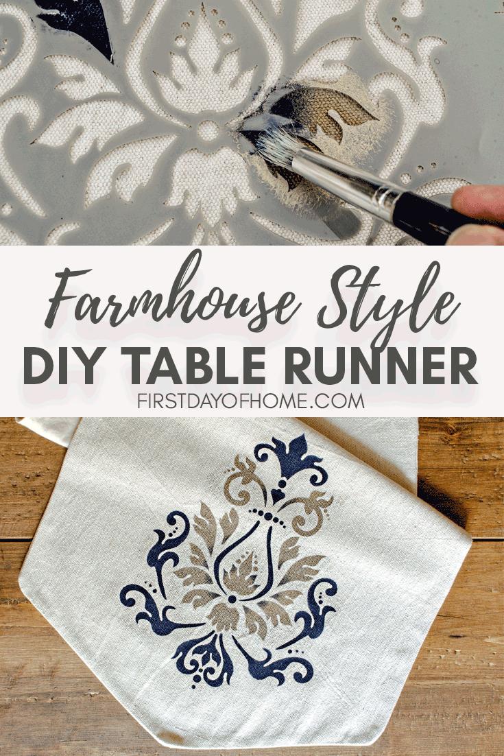 Farmhouse style table runner tutorial