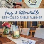 Stenciled Table Runner Tutorial
