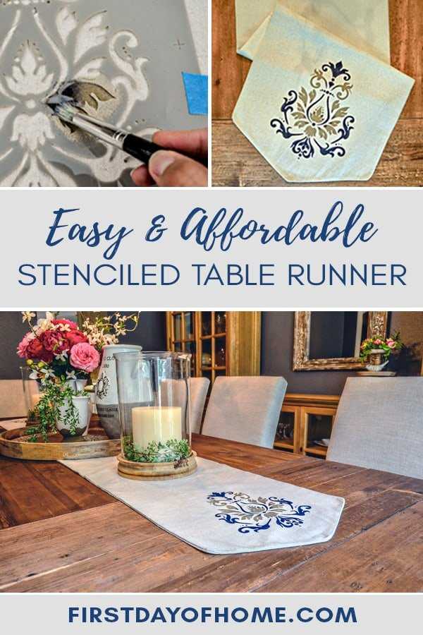 Learn how to make an easy and affordable stenciled table runner with this tutorial