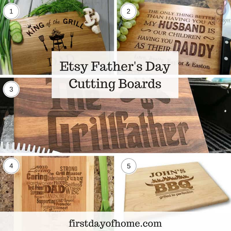 Etsy personalized Father's Day cutting board gifts