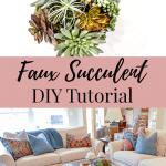How to make artificial succulent arrangement