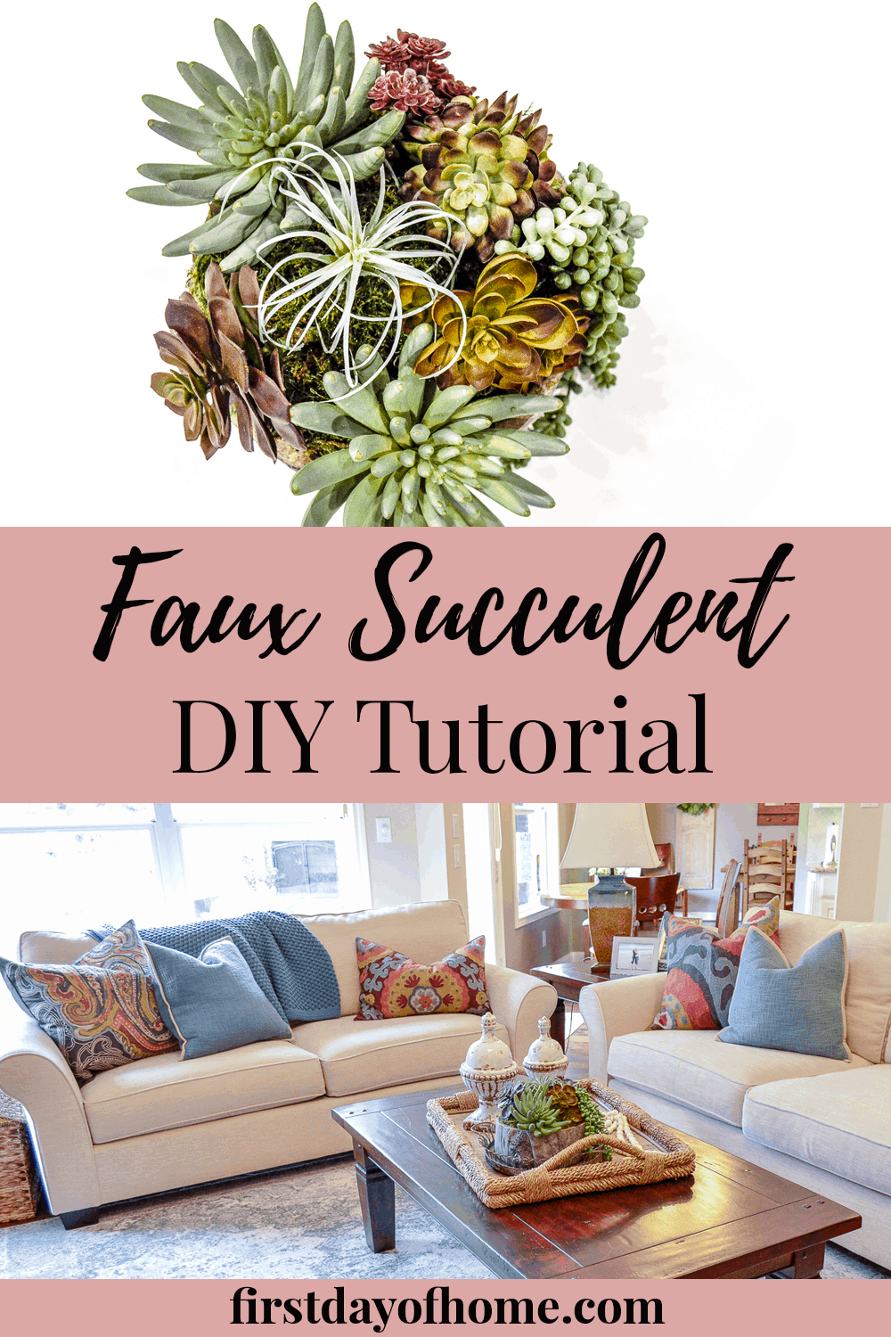 How to make artificial succulent arrangement