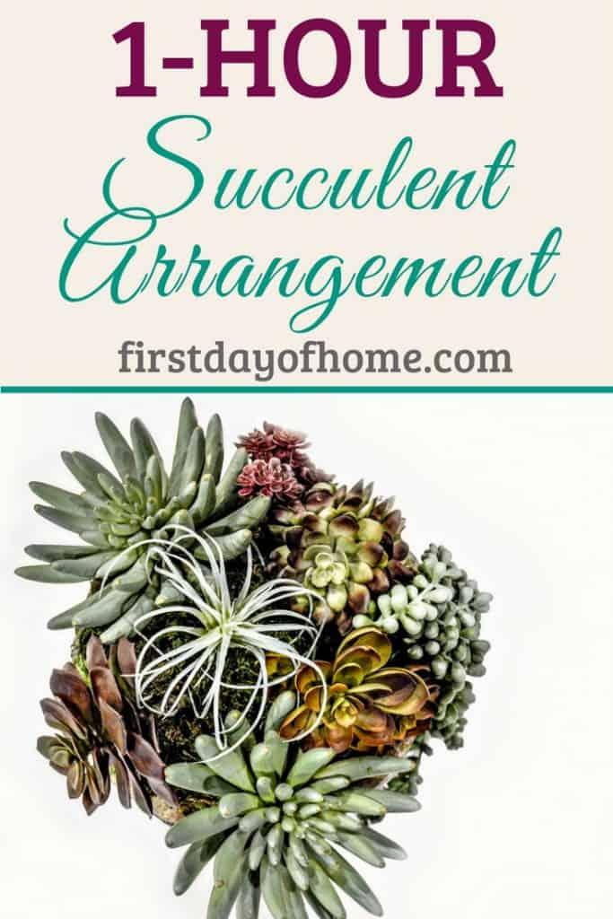 Easy DIY Faux Succulent Arrangement