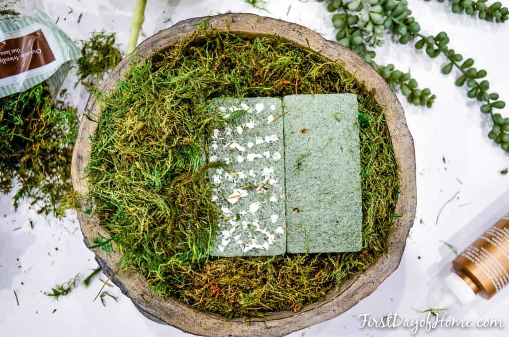 how to make artificial succulent arrangement-step 2