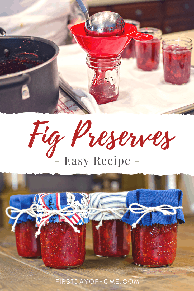 Strawberry fig preserves canning instructions and recipe