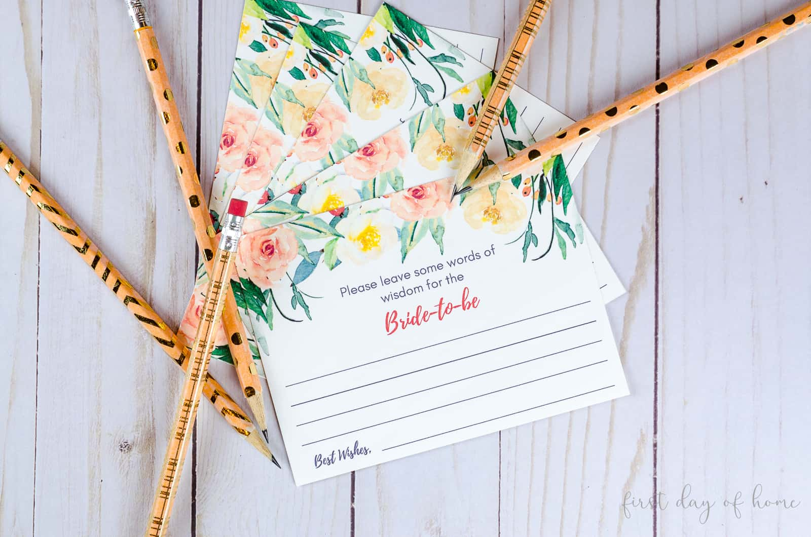 Free bridal shower advice cards for the bride-to-be and happy couple
