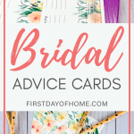 Free bridal shower advice cards