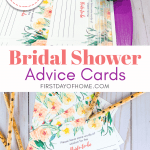 Free printable bridal shower advice cards