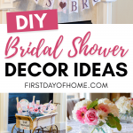 DIY decor for bridal shower