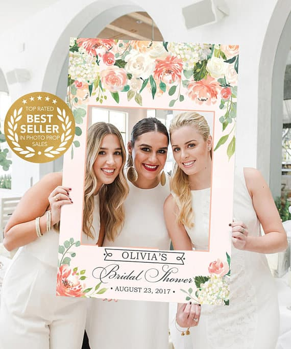 Etsy bridal photo frame