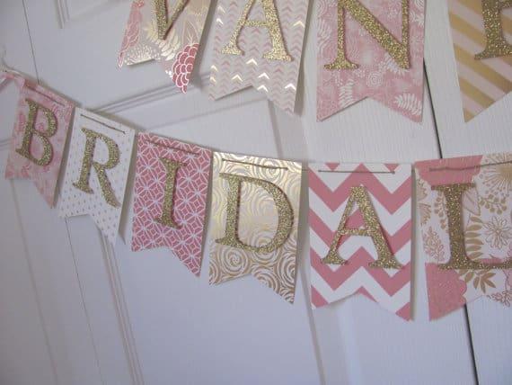 Etsy bridal pennant banner