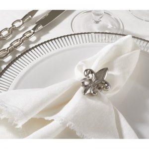 Fleur-de-Lis Napkin Rings