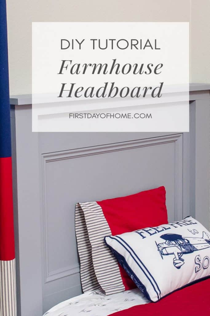 DIY Farmhouse Headboard tutorial