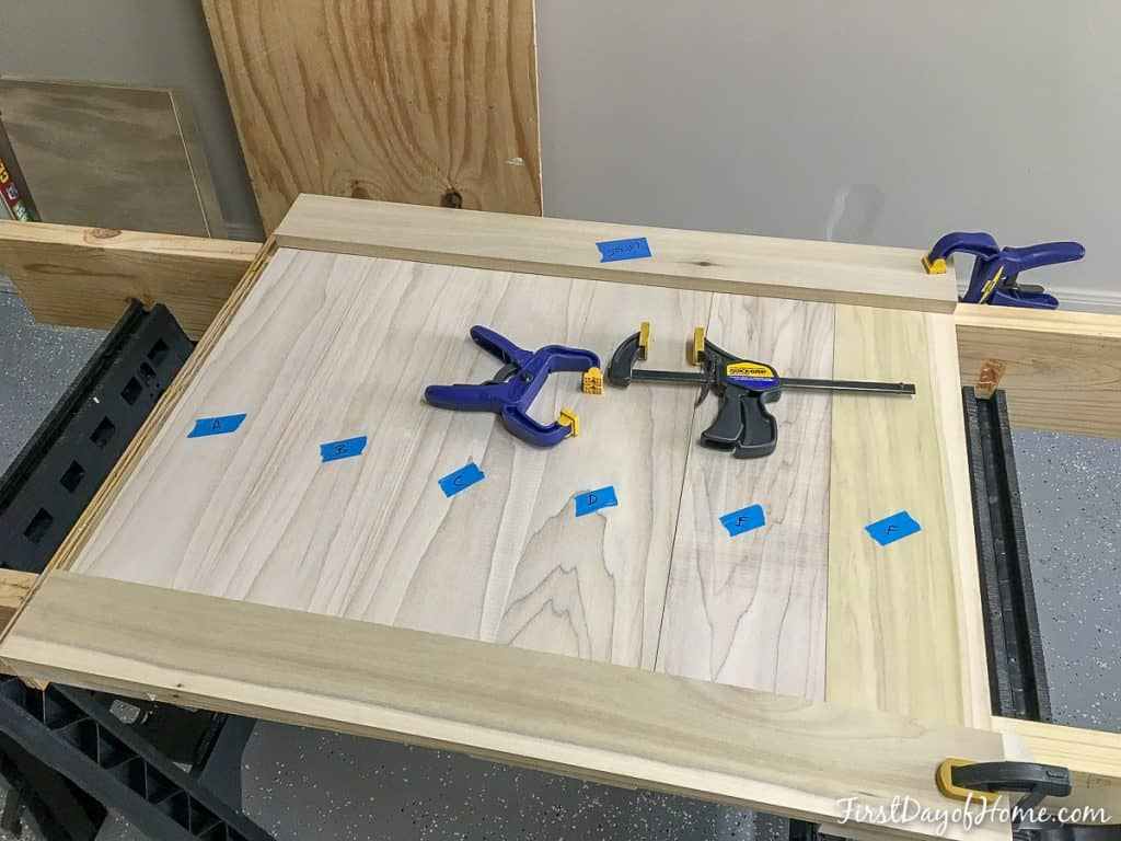 Panel for DIY farmhouse headboard