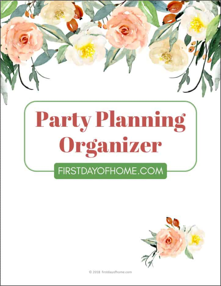 Free party planning printables to organize your next event