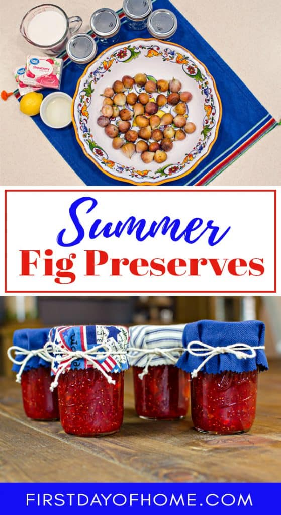 Fresh strawberry fig preserves recipe