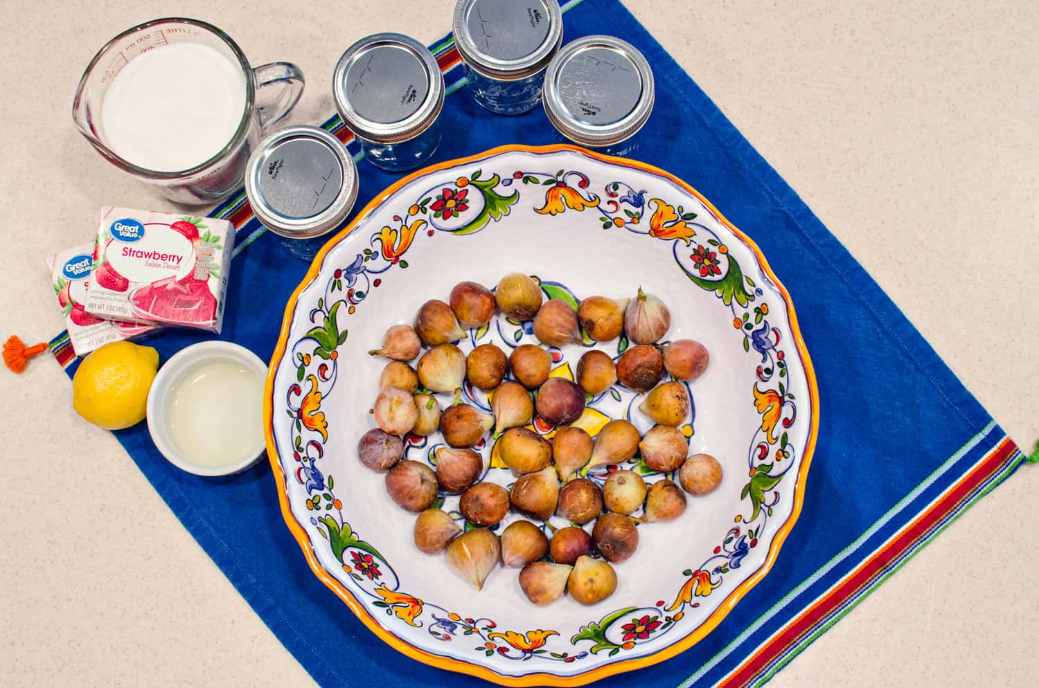 Four simple ingredients for old fashioned fig preserves