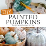 Steps for painting pumpkins