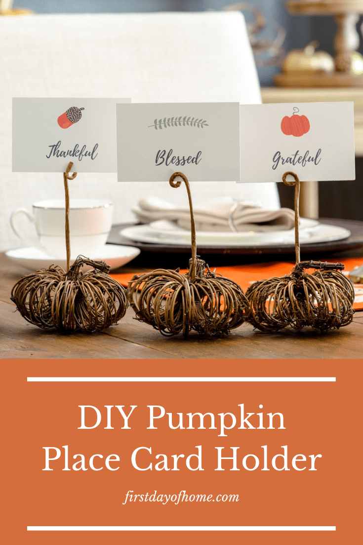 DIY Pumpkin Place Card Holder-PIN