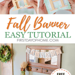 Fall banner with free SVG files for fall decor