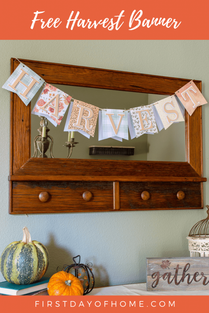 Free Harvest Pennant Banner Pin