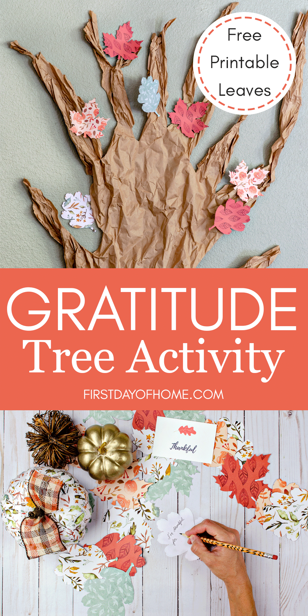 Gratitude tree activity for families