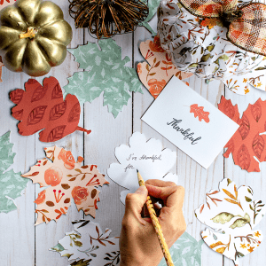 Gratitude Tree Activity for Families (Free Printable Leaves and SVG File)