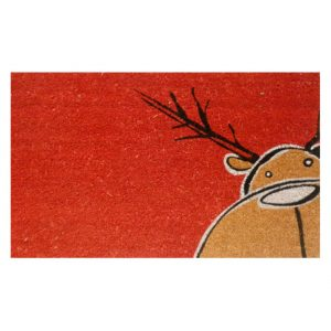 Home and More Christmas Moose Welcome Door Mat