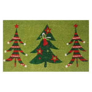 Home and More Christmas Tree Trio Welcome Door Mat