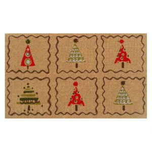 Home and More Christmas Trees Welcome Doormat