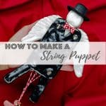 String puppet with polymer clay