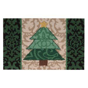 Nourison Waverly Christmas Green Christmas Tree Indoor Doormat