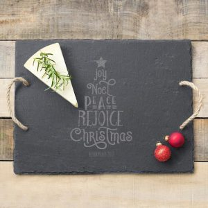 PERSONALIZED CHRISTMAS TREE SLATE SERVING BOARD