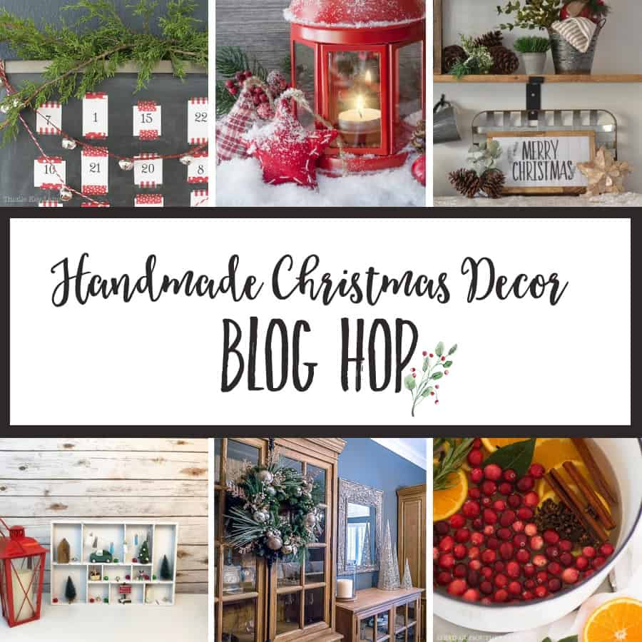 handmade christmas decor blog hop image