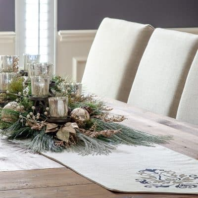 DIY Holiday Centerpiece with Mercury Glass