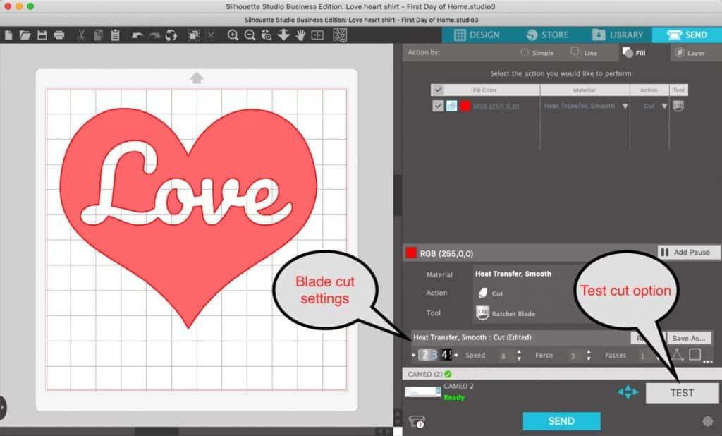 Buffalo Pattern Heart T-Shirt {Free SVG Cut File} – First