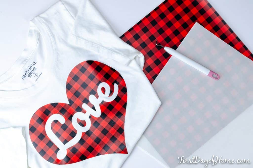 DIY Valentines Shirt with free SVG file for Cricut and Silhouette Cameo