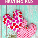 Sewing a heating pad with rice and lavender