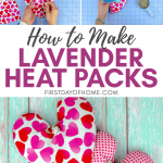 DIY heating pad with lavender