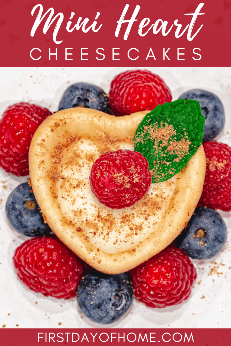 Heart shaped mini cheesecake recipe