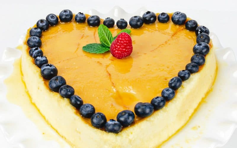 Cheesecake Flan Recipe (Flan de Queso) for Valentine's Day, Mother's Day or special occasions